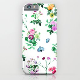 Watercolour Flowers Pattern. iPhone Case