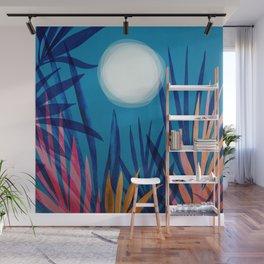Tropical Moon / Landscape Illustration Wall Mural