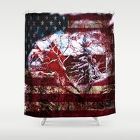 american Shower Curtains featuring American Barn by BeachStudio