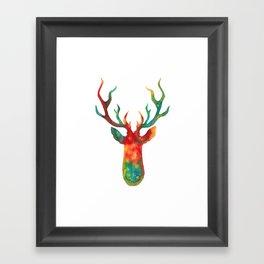 Psychedelic Stag Framed Art Print