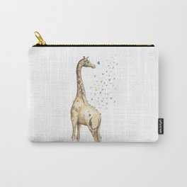Young Giraffe with Butterflies Carry-All Pouch