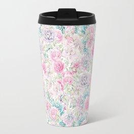 Modern aqua pastel pink lavender cactus floral Travel Mug