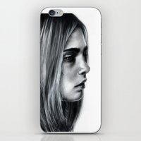 cara iPhone & iPod Skins featuring Cara by Siney
