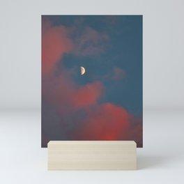 Cloud Bleeding Mars for Moon Mini Art Print