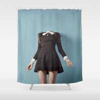 silence of the lambs Shower Curtains featuring Silence by FLORABORSI