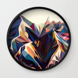 Mountains original Wall Clock