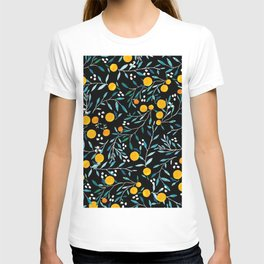 Oranges on Black T-shirt