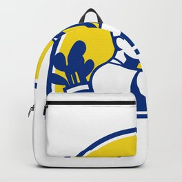 Caddie and Golfer Pointing Retro Backpack
