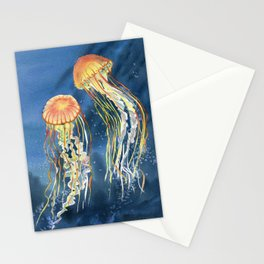 Dancing of Jellyfish Stationery Cards