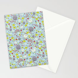 Pretty Rat and Mouse Pattern Stationery Cards
