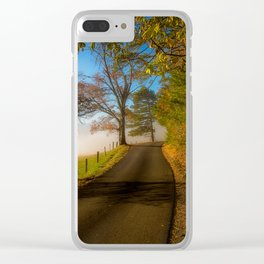 Smoky Morning - Whimsical Scene in Great Smoky Mountains Clear iPhone Case
