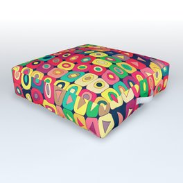 Op Art 2. (Peace) Outdoor Floor Cushion