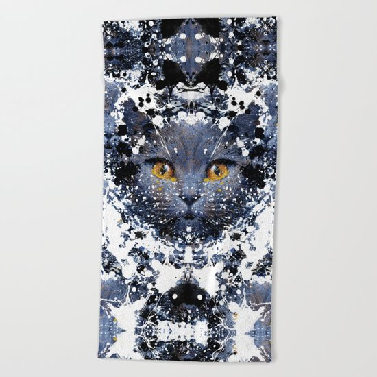 British Shorthair Beach Towel