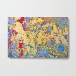 Flaking paint in Valparaiso Metal Print