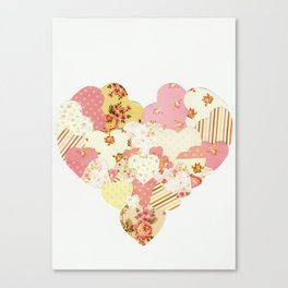 patchwork heart Canvas Print
