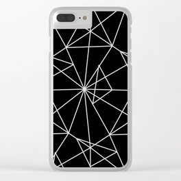 Abstract black white minimalist geometric pattern Clear iPhone Case