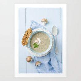 Mushroom soup Art Print