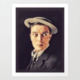 Buster Keaton, Vintage Actor Art Print