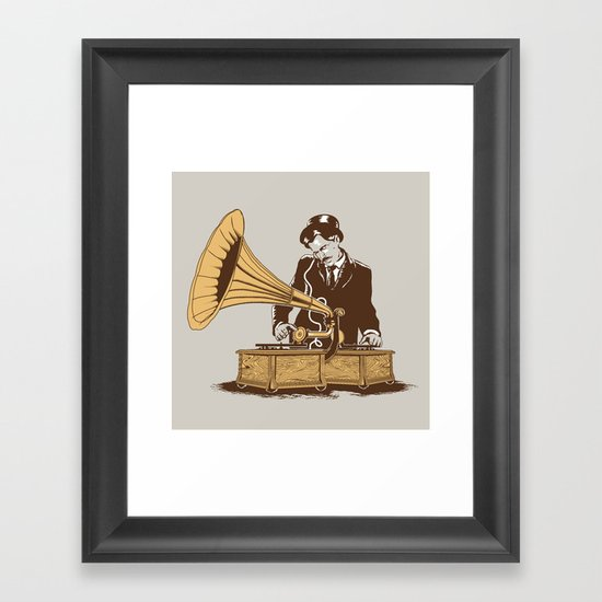The Future In The Past Framed Art Print