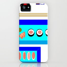 A Sushi Dinner with Tea iPhone Case