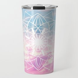 Star Mandala Unicorn Pastel Clouds #3 #decor #art #society6 Travel Mug