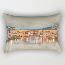 Firenze, Ponte Vecchio Rectangular Pillow
