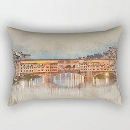 Firenze, Ponte Vecchio Rectangular Pillow
