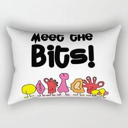 Meet The Bits Rectangular Pillow