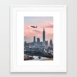 Taipei Takeoff Framed Art Print