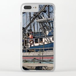 FISHING BOATS VISE A VERSA Clear iPhone Case