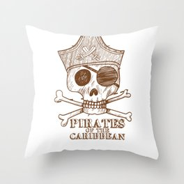 Pirates Of The Caribbean Design  Throw Pillow