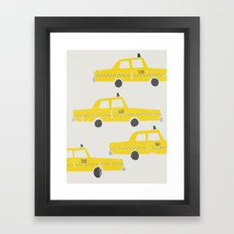 New York Taxicab Framed Art Print