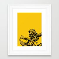 transformers Framed Art Prints featuring Transformers: Bumblebee by Skullmuffins