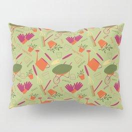 A Day in the Garden - Green Pillow Sham