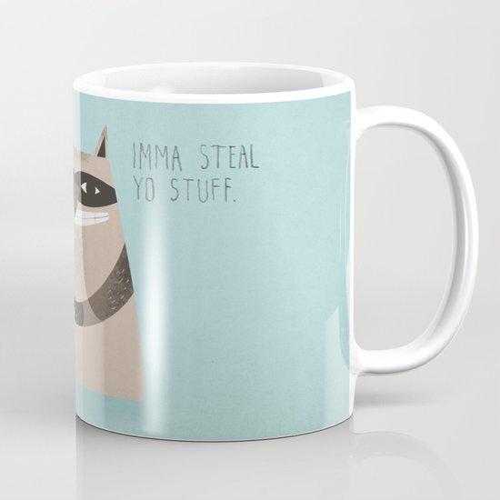 Sneaky Raccoon Mug
