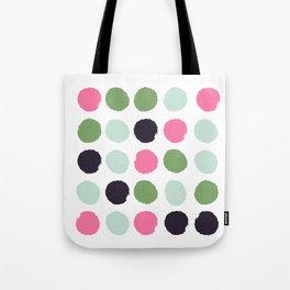 Painted dots minimal colorful pattern polka dots nursery baby decor Tote Bag