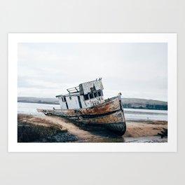 Pt. Reyes Shipwreck Art Print