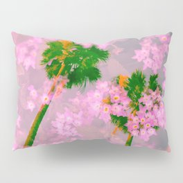Palm Blossoms v3 Pillow Sham