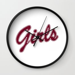 Friends girls shirt Wall Clock