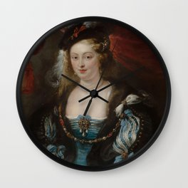 Portrait of a Young Woman - Peter Paul Rubens Wall Clock