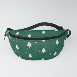 Christmas Trees Pattern Green Fanny Pack