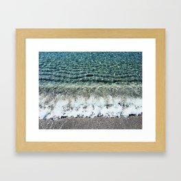 Clear Captiva Waves Framed Art Print