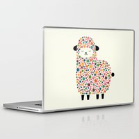 bubble Laptop & iPad Skins featuring Bubble Sheep by Andy Westface