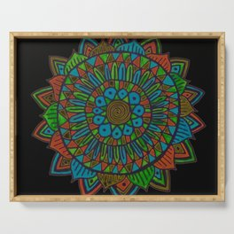 Glow Doodle Mandala Serving Tray