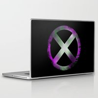x men Laptop & iPad Skins featuring X-Men by Trey Crim