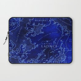 map blue Laptop Sleeve