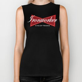 Ironworker King of Trades Funny Gift Biker Tank