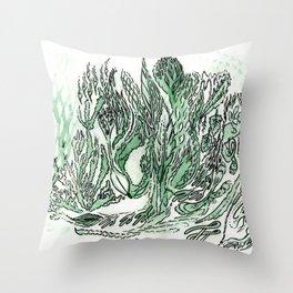 saltwater sleepy shakes Throw Pillow