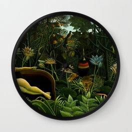 Henri Rousseau The Dream Painting Wall Clock