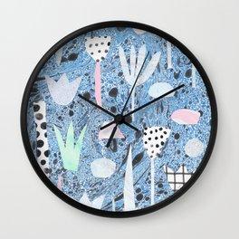 Marble plants Wall Clock